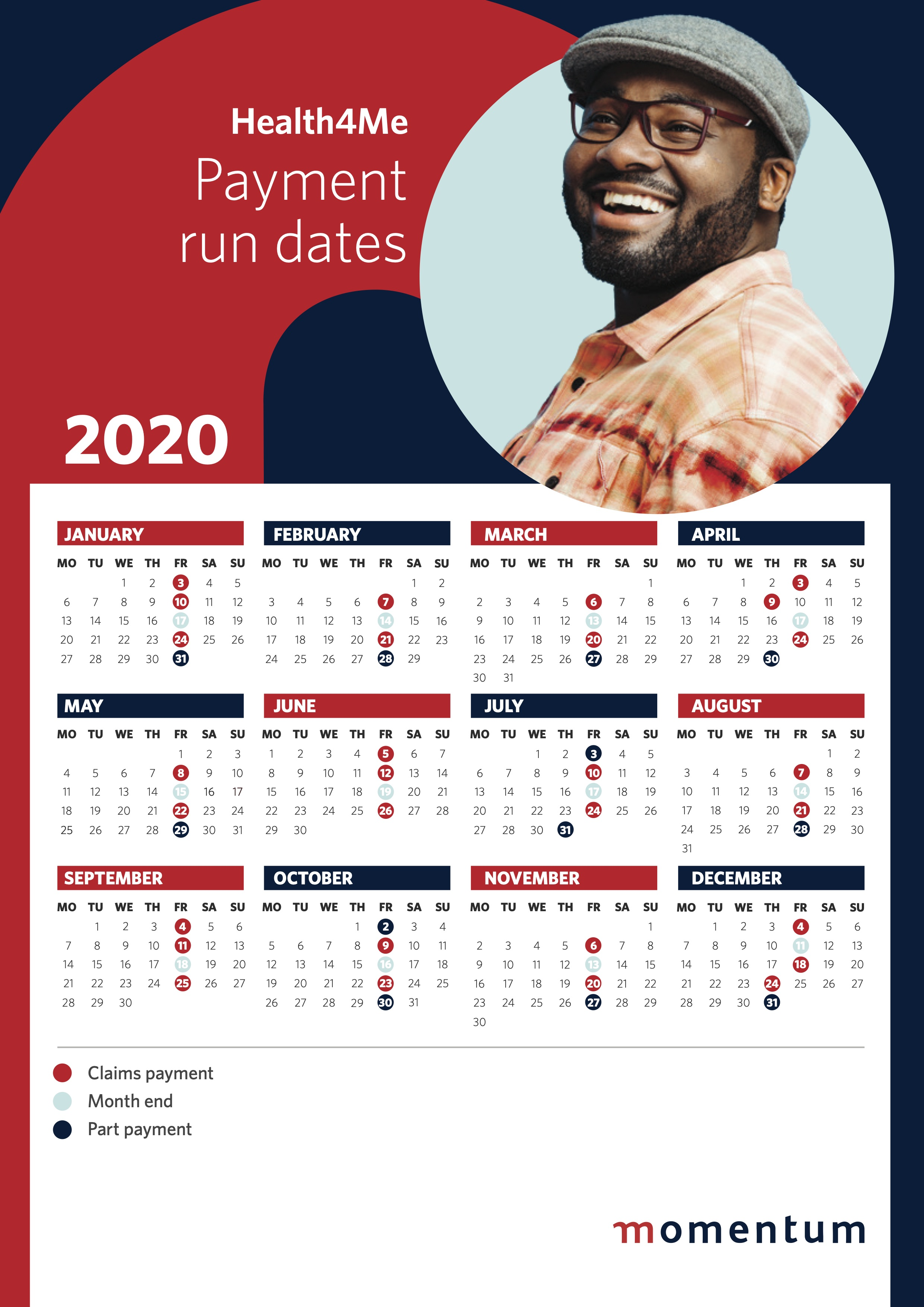 Health4Me Payment Run Dates 2020