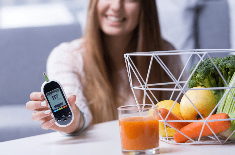 checking blood sugar levels for diabetes